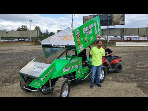 Kraig Kinser Drives Steve Kinsers Car At Skagit Speedway