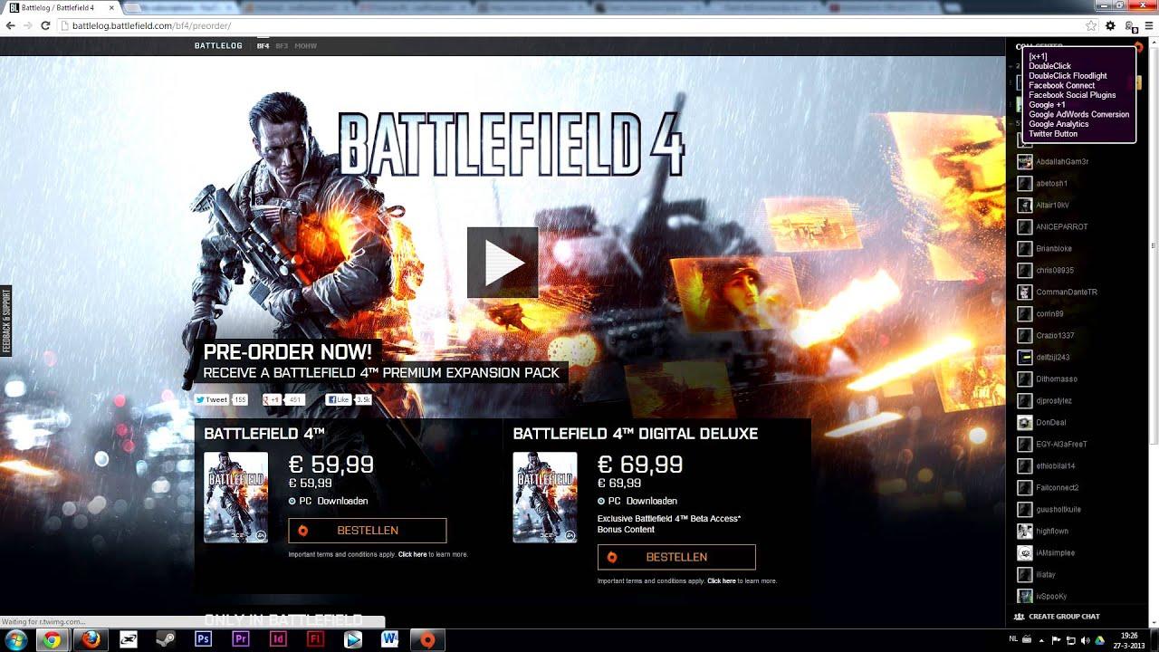 Battlefield 4 Pre-order Prices - PC, XBOX 360, PS3 [BF4 ...