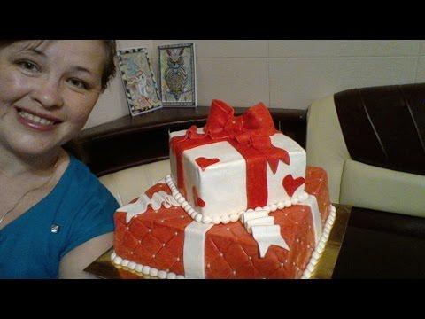 как собрать двухъярусный торт.... подарок