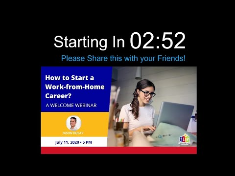 Welcome Webinar (How To Start A Work-from-Home Career)