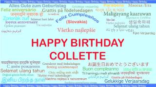 Collette   Languages Idiomas - Happy Birthday
