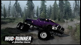 MEGA RAM CUMMINS 6X6 TAKEN ON FLOODED ROADS - Spintires: MudRunner