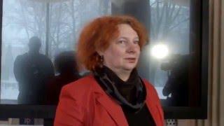 Ира Дудина в б-ке Аалто на открытии своей выставки