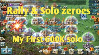 Lords mobile war rally , solo attacks zeroing people's by i am naveen