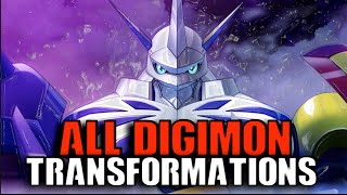 Digimon Story Cyber Sleuth - All Digimon Transformations in Chronological Order