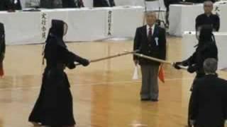 第54回東西対抗剣道大会 大将戦 林邦夫範士 対 藤原崇郎範士