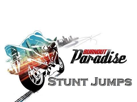 Burnout Paradise - Bike Stunt Jumps Montage
