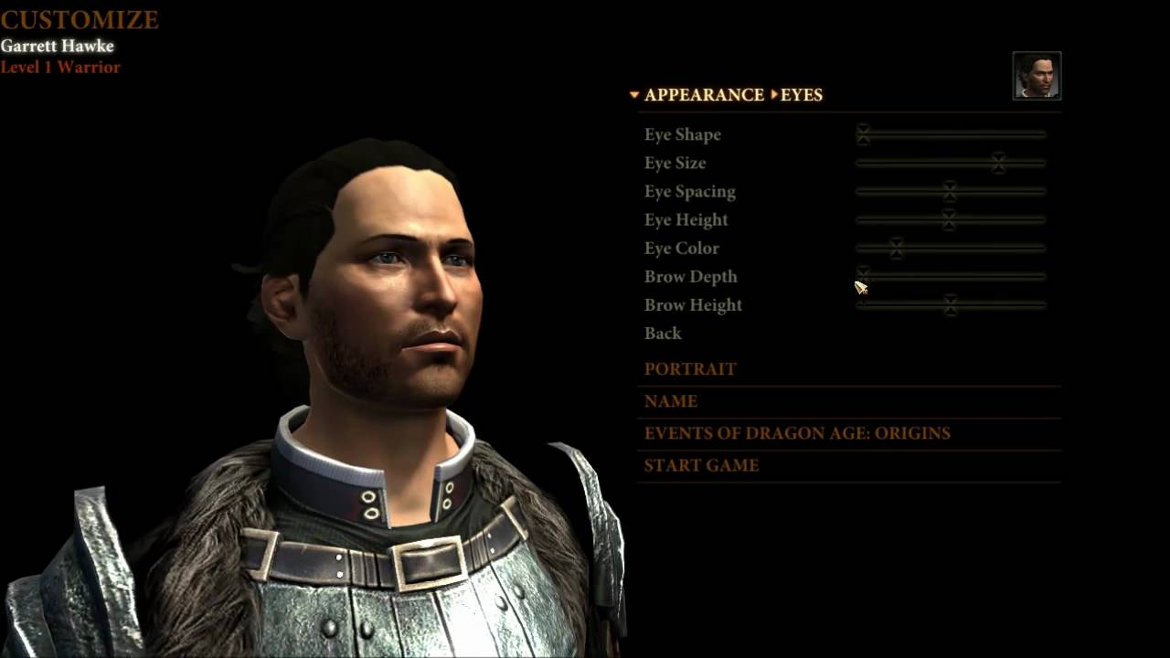 Dragon Age Origins Characters Creation Dragon Age 2 Character