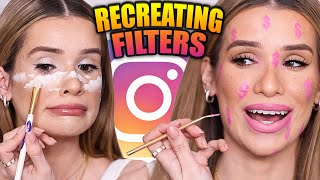 Recreating POPULAR INSTAGRAM Filters! *Makeup Challenge*
