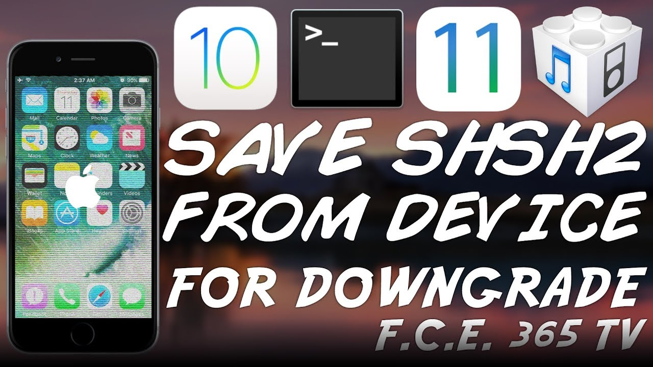 How to Save SHSH Blobs (APTicket) From Device For Future Downgrade (No  Jailbreak Required) by F C E  365 TV - iDevice Central