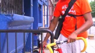 Temple physics education major delivers books to North Philadelphia students on a bike.