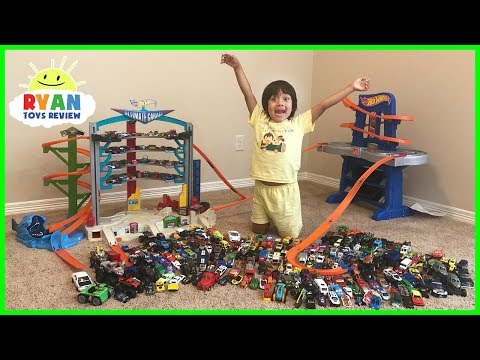 Biggest Hot Wheels Collection Road Rally Raceway Playset and  Ultimate Garage Cars