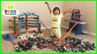 Biggest Hot Wheels Collection Road Rally Raceway Playset! Kids Pretend Play Ultimate Garage Cars