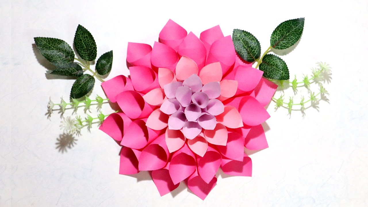Diy Paper Flowers How To Make Dahlia Flowers Paper Decorations