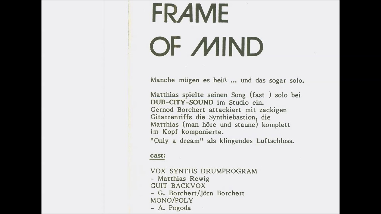 Frame Of Mind - Only A Dream (1985) - YouTube