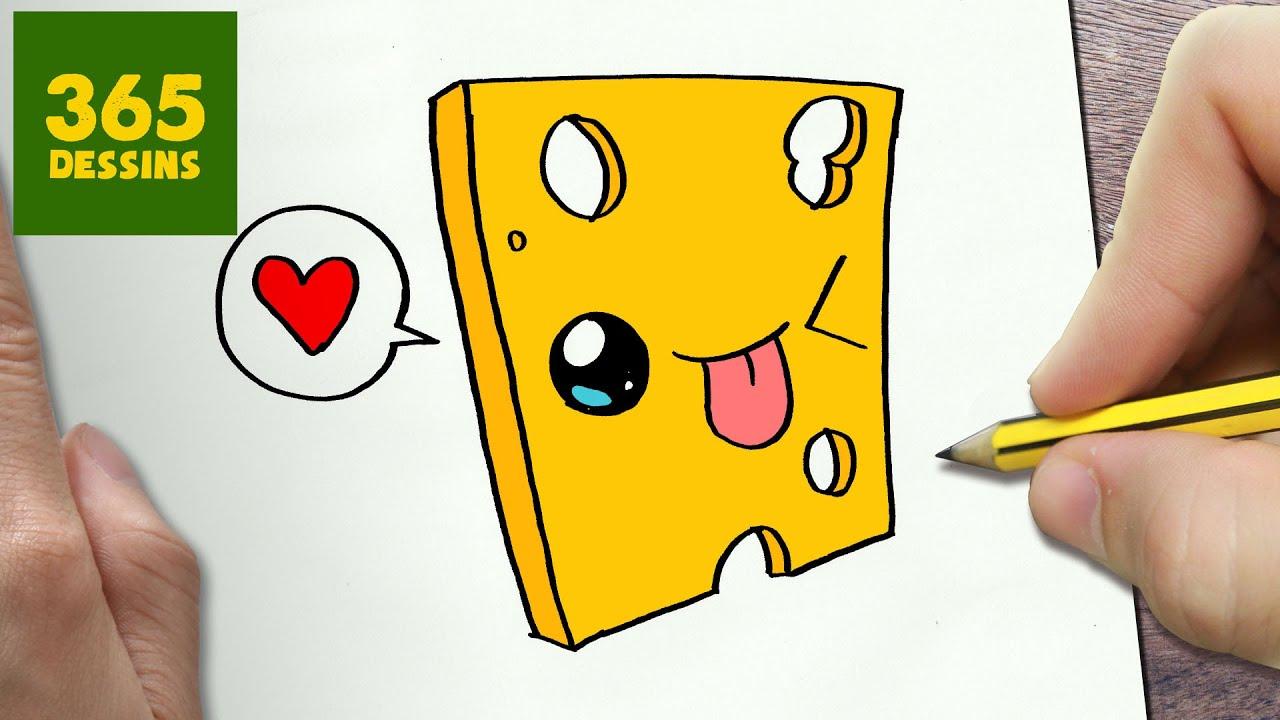 comment dessiner fromage kawaii tape par tape dessins kawaii facile youtube. Black Bedroom Furniture Sets. Home Design Ideas