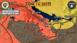 14 июня 2017. Военная обстановка в Сирии. США направили реактивные системы в Сирию. Русский перевод.