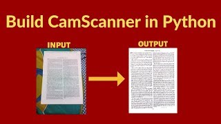 Build your own Document Scanner(CamScanner) from scratch in Python