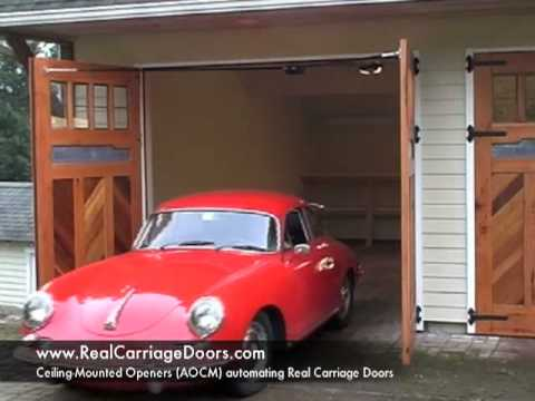 Swing Out Carriage Garage Door Opener Youtube