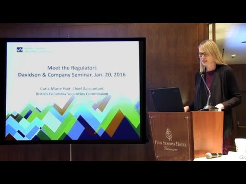 Meet the Regulators - BC Securities Commission - Davidson & Company