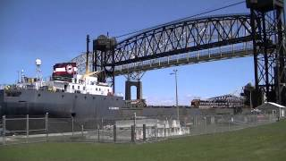 Algoway Downbound May 2013 International Bridge Great Lakes Freighter Soo Locks
