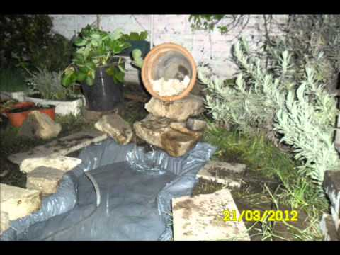 Como hacer una fuente en el jardin youtube Estanque natural como hacerlo