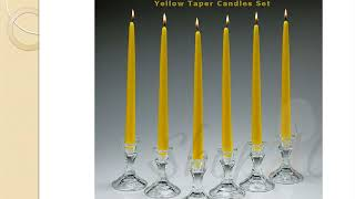 Yellow Dripless Taper Candles 12 Inch Tall Set Online At Shopacandle