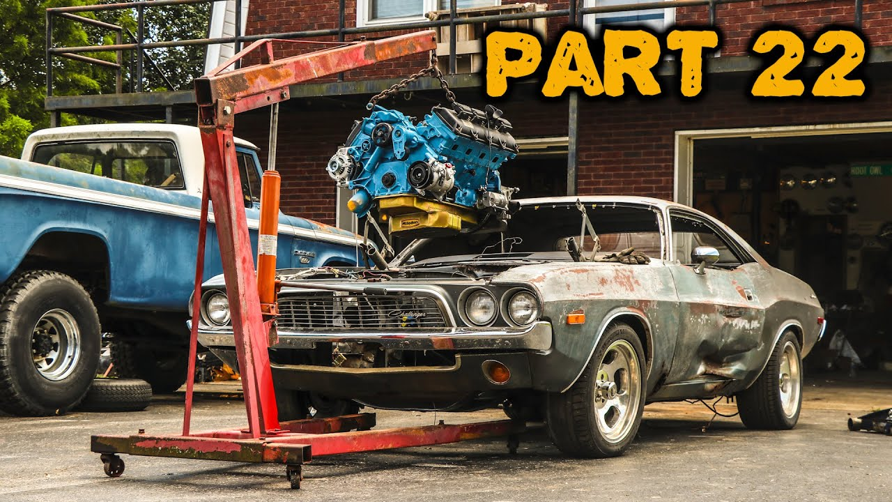 ABANDONED Dodge Challenger Rescued After 35 Years Part 22: Will The HEMI Fit?