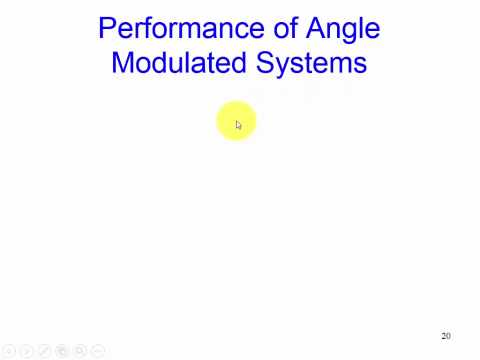 Noise Performance of Angle Modulated Systems:  Overview