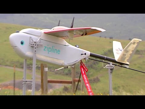 Drones carry patients' blood for a fee in Rwanda - BBC Click