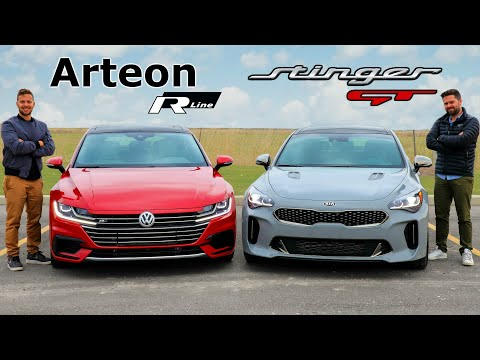 2020 Kia Stinger GT vs Volkswagen Arteon R-Line // $50,000 Face Off