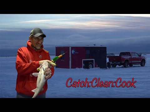 Ice Fishing Walleye On Red Lake / Sleeper Shacks (Catch:Clean:Cook)