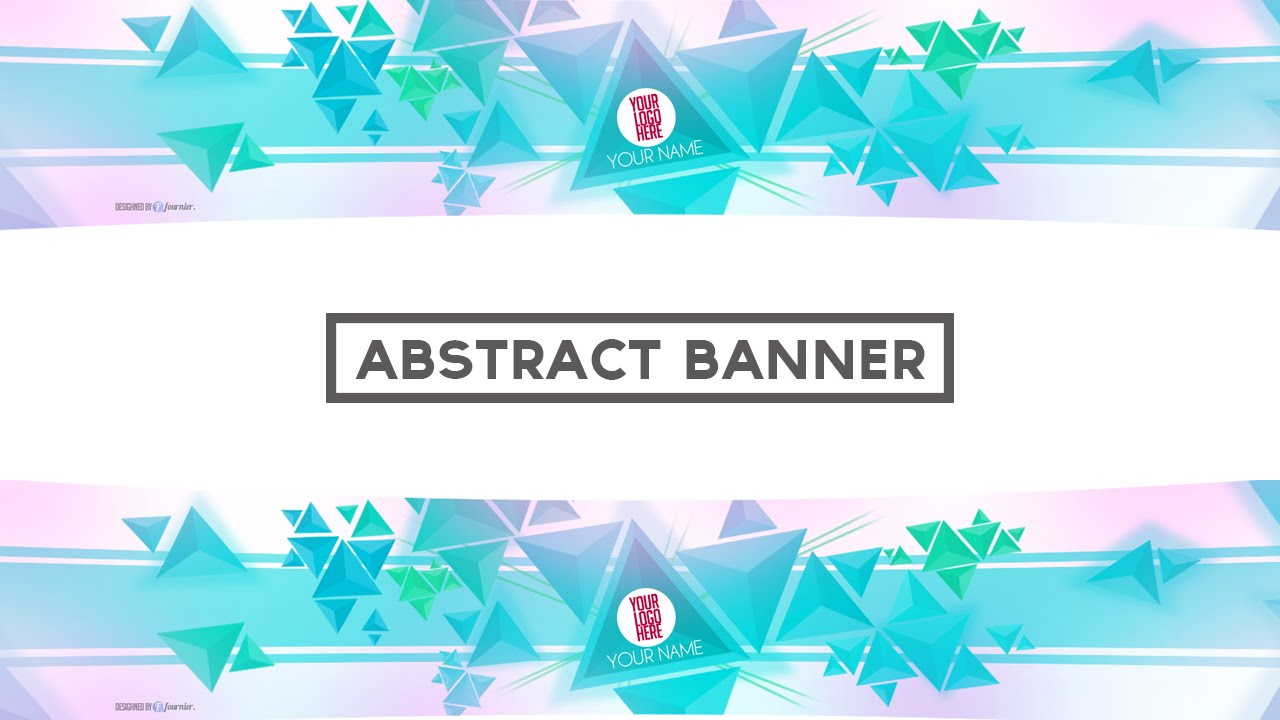 Epic abstract free banner template w/ speed art (PSD.) - YouTube