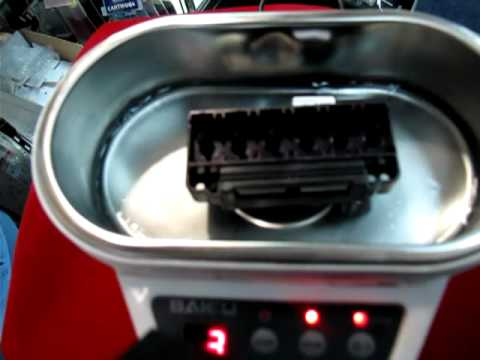 เครื่อง Ultrasonic ล้างหัวพิมพ์ inkjet