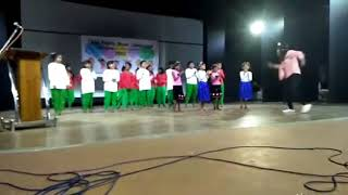 The children of a CCI are performing at the closing ceremony of child rights week,2018,Jalpaiguri.
