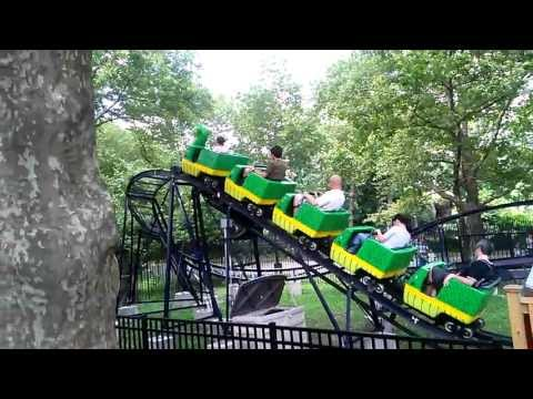 World's smallest roller coaster located in Queens New York City Flushing Meadows Corona Park
