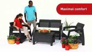 видео Уличная мебель CORFU Triple Set