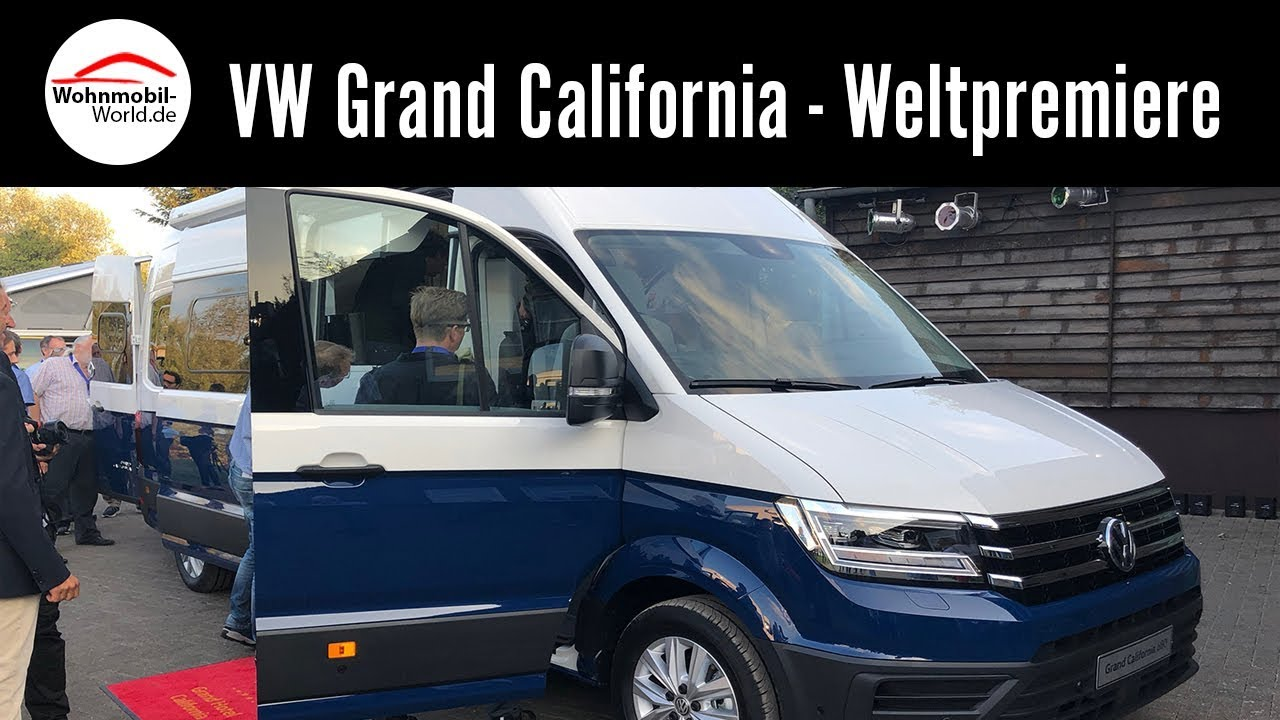 VW Grand California 600/680 2019 - Weltpremiere Caravan Salon 2018 - YouTube