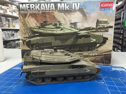 Building the Academy 1/35 Merkava IV  from start to finish