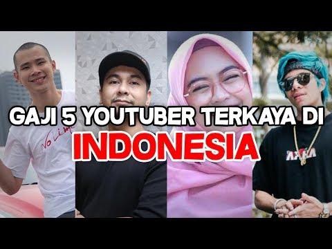 INILAH GAJI 5 YOUTUBER TERKAYA DI INDONESIA!!!