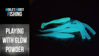 Let's Play With GLOW IN THE DARK Powder Made For Soft Plastic Lures