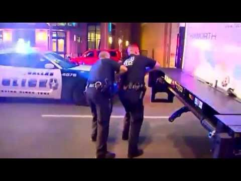 Dallas police make desperate calls for help during shooting