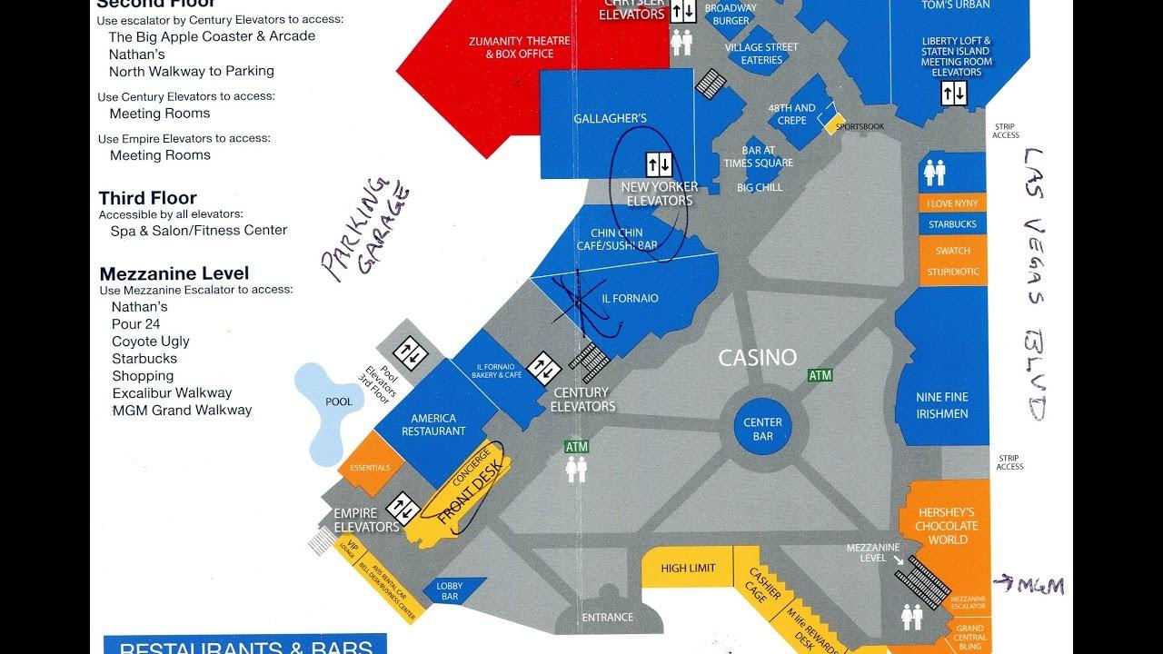 Map Of New York New York Casino.Main Floor Plan Of New York New York Casino Las Vegas