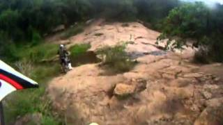 off road riding outside Durban South Africa along the Umgeni River