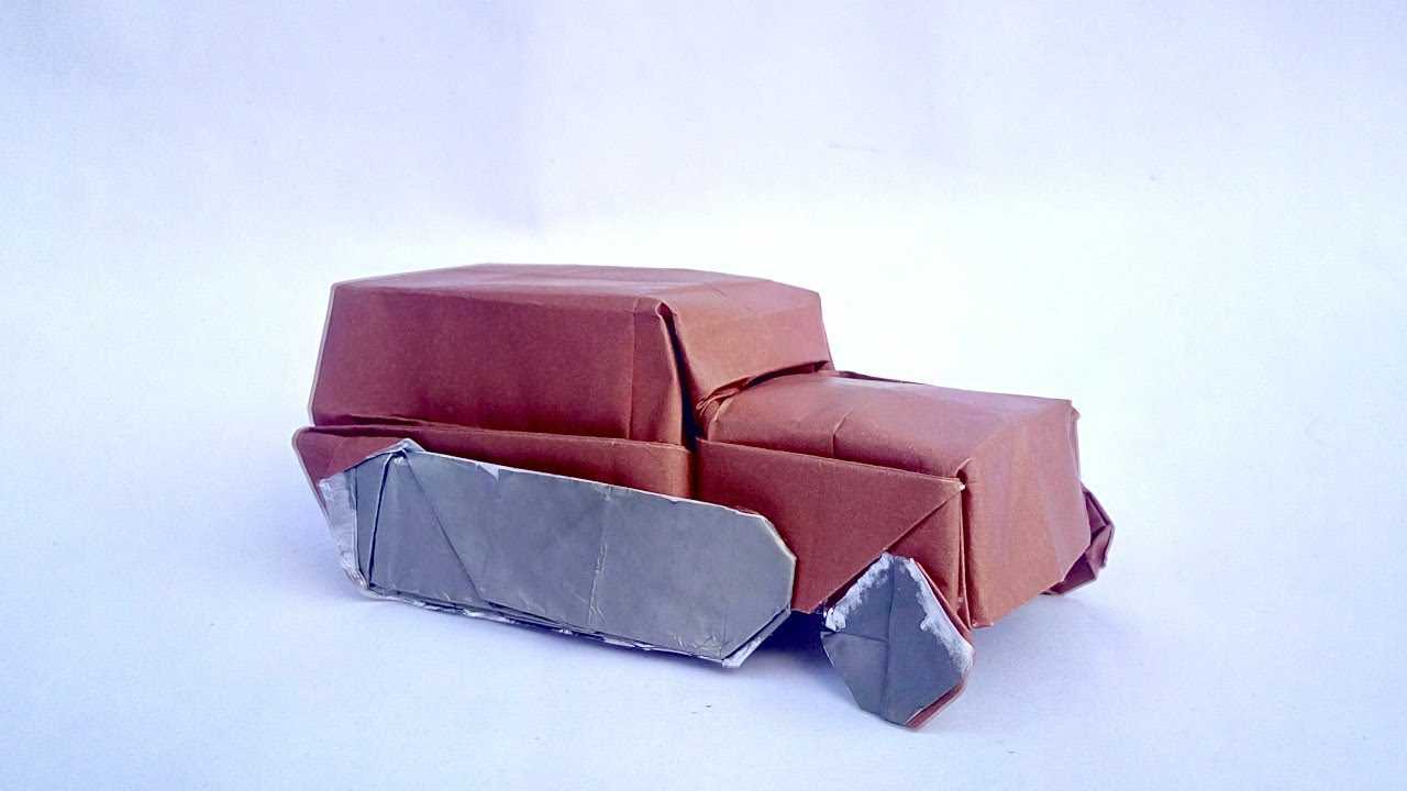 Origami Halbkettenfahrzeug Youtube 折り紙 車 折り紙 折り紙 作り方
