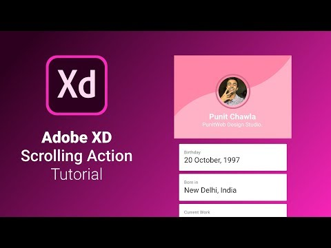 Scrolling Actions in Adobe XD - Animate on Scroll - Design Weekly