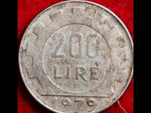 200 Lire Coin - Italy -  1979