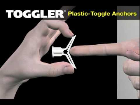 Plastic Toggle Anchors Youtube