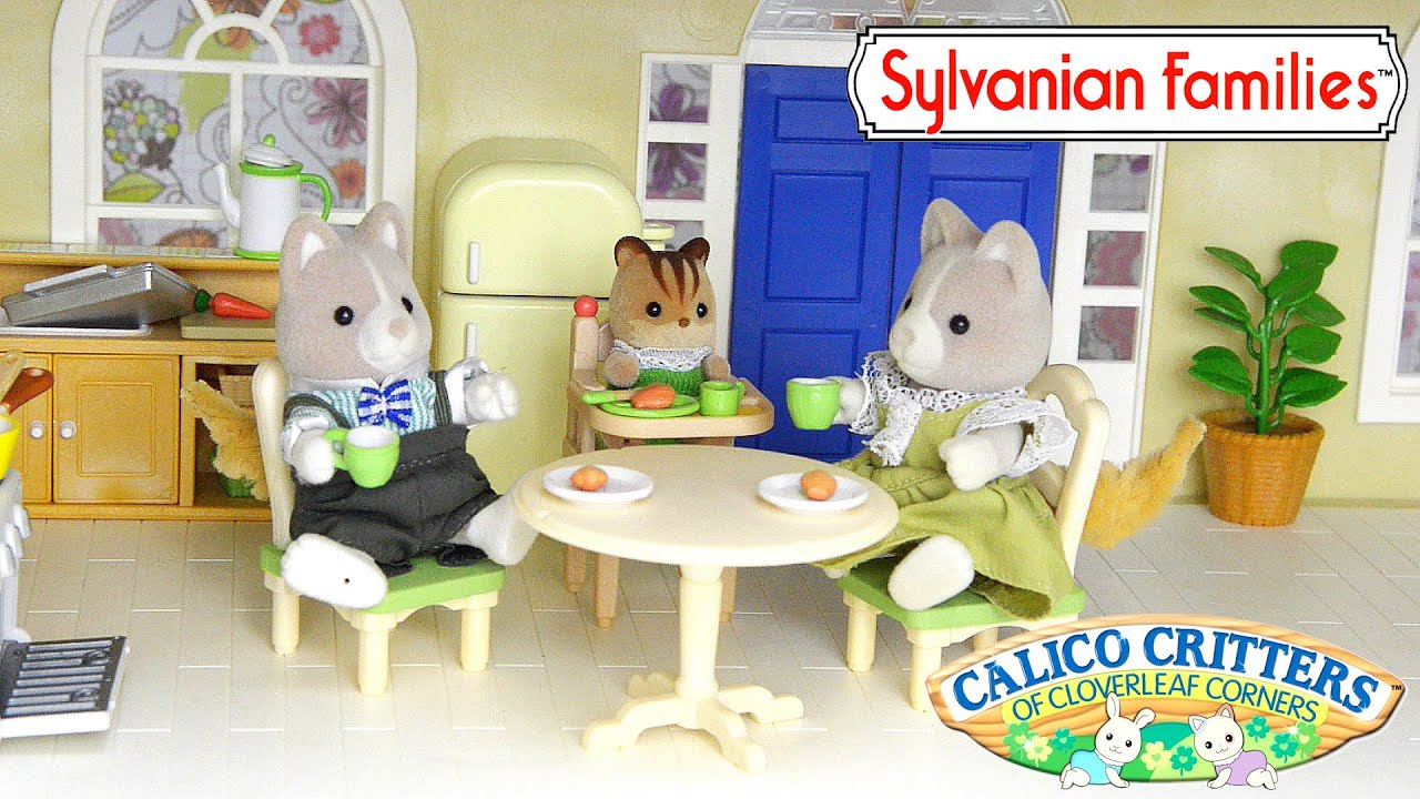 Sylvanian Families Calico Critters Kozy Kitchen add Couch Daddy ...