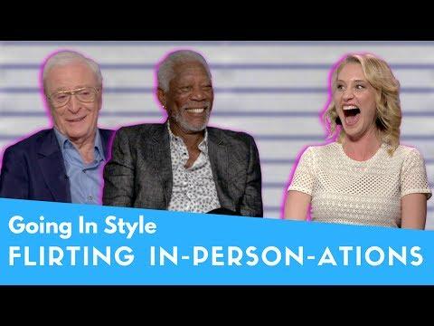 Morgan Freeman IMPERSONATES Michael Caine!